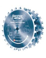 Amana 658060C Carbide Tipped Electro-Blu™ Prestige Dado 8 Inch Dia x 24T H-ATB, 5/8 Bore, Complete Dado Set with Six 4-Wing Chippers
