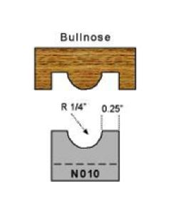 1/4 inch radius bullnose