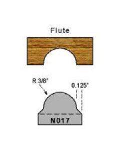 3/8 radius flute