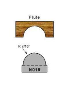N018 7/16 radius flute profile