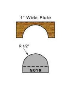 1/2 inch radius flute