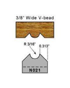 3/16 inch radius v bead bit