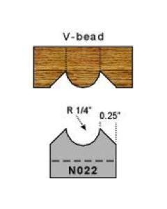 1/4 inch radius v bead