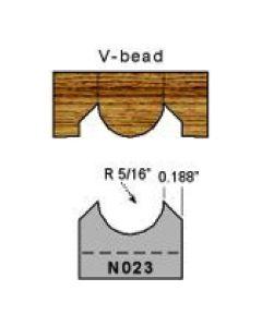 N023 5/16 radius V bead profile