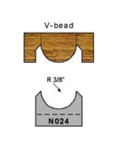 3/8 inch radius v bead profile