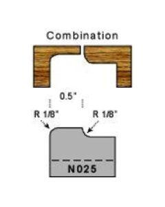 Combination profile 1/8 radius