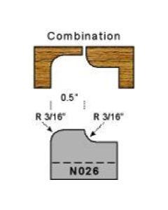3/16 radius combination plug