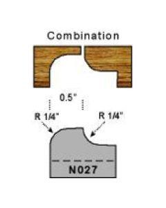 1/4 radius combination profile