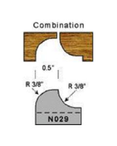3/8 radius combination profile