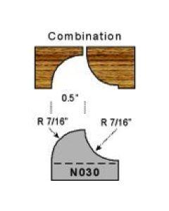 7/16 radius combination profile