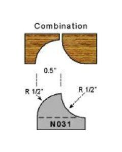 1/2 radius combination profile