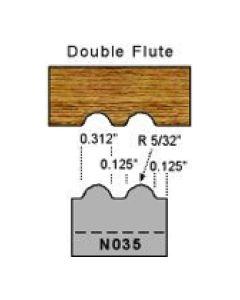 5/32 radius double flute profile