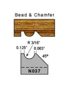 3/16 radius bead and chamfer profile