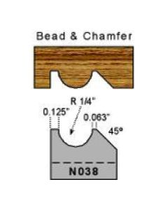 1/4 radius bead and chamfer profile