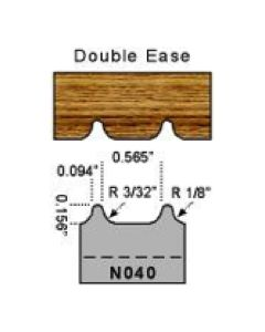 3/32 radius double ease profile