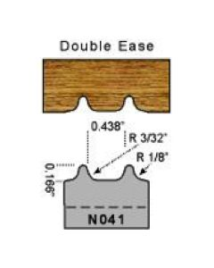 3/32 double ease profile