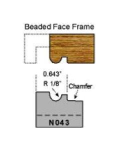 1/8 radius beaded face frame