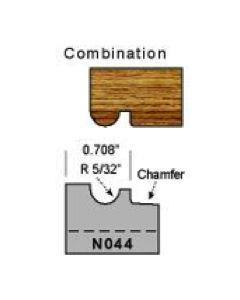 5/32 radius combination profile