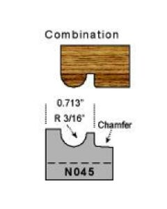 N045 3/16 radius combination profile
