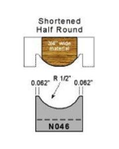 Shortened half round profile