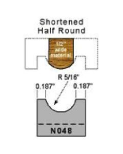 5/16 radius shortened half round profile