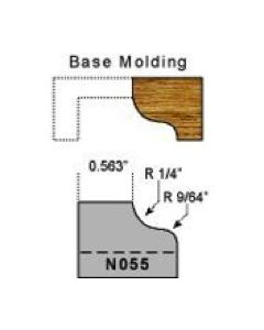 Base molding profile 1/4 radius