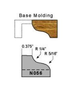 Base molding ogee profile