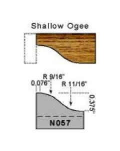 Base molding shallow ogee profile
