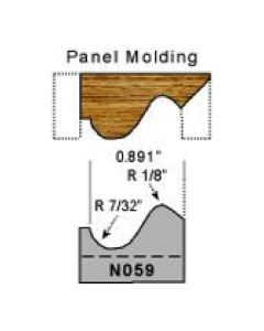 7/32 radius panel molding profile