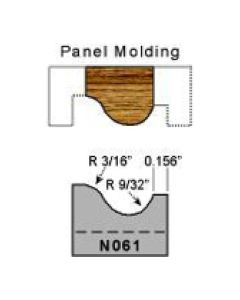 3/16 radius panel molding profile