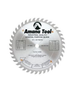 Amana 610400 Carbide Tipped General Purpose 10 Inch Dia x 40T ATB, 15 Deg, 5/8 inch Bore