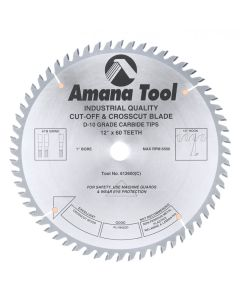 """Amana 612600 12""""/60T CUT-OFF SAW ATB GRIND"""