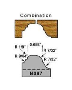Combination cove and bead profile