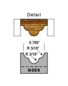 3/16 radius detail screen molding profile