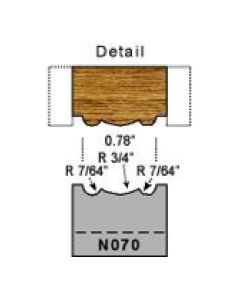 7/64 radius detail screen molding profile