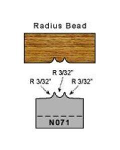 3/32 radius bead