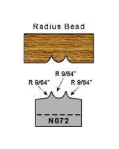 9/64 radius bead profile