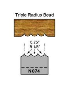 1/8 radius triple bead profile