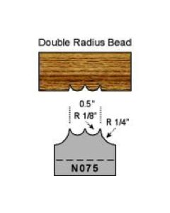 1/8 double radius bead