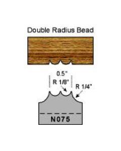 1/8 double radius bead
