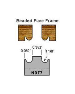 Beaded face frame profile