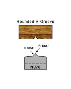 rounded v groove profile