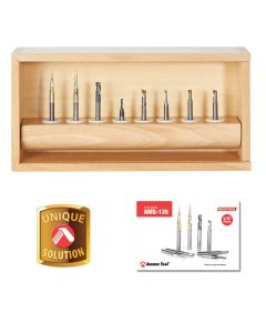 Amana ams-135 8-Pc Specialty Solid Carbide Spiral CNC Router Bit Collection