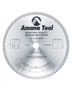"Amana CTC12108 12""/108T DOUBLEMITER C-TCG 1""B"