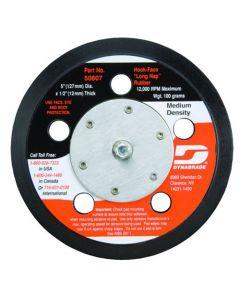 "Dynabrade 50607 5"" (127 mm) Dia. Vacuum Disc Pad, Hook-Face, Long Nap"