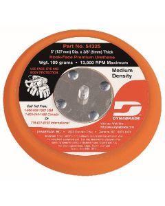 "Dynabrade 54325 5"" (127 mm) Dia. Non-Vacuum Disc Pad, Hook-Face, Short Nap"