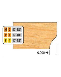 Freeborn Mini-pro Carbide Door Edge Details (32mm Hinge System) Bottom Cutter Profiles