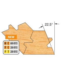 """Freeborn Pro-line Carbide Two Piece Double Tongue & Groove Lock Mitre Sets 3/4"""" material"""