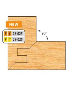 """Freeborn Pro-line T-alloy Two Piece Double Tongue & Groove Lock Mitre Sets 3/4""""-1"""" material"""