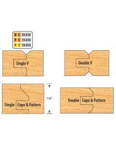 Freeborn Pro-line Carbide V-Paneling Shaper Cutter Set